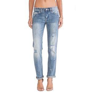 Blank NYC distressed Boyfriend jeans Flavor Savor